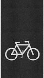 Bicycle sign path on the road Stock Image