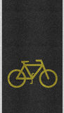 Bicycle sign path on the road Royalty Free Stock Photo