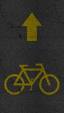 Bicycle sign path on the road Stock Photography