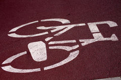 Bicycle sign. Stock Image