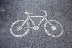 Bicycle sign. Stock Images