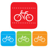 Bicycle sign, Vector icon Stock Photos