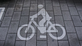 Bicycle sign Stock Photo