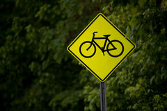 Bicycle sign stock images