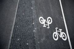 Bicycle signs Stock Photography