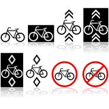 Bicycle signs Royalty Free Stock Image