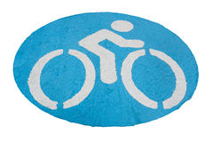 The bicycle signs. Royalty Free Stock Image