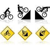 Bicycle signs Stock Image