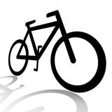 Bicycle silhouette. Abstract bicycle silhouette illustration isolated over white background Stock Photos