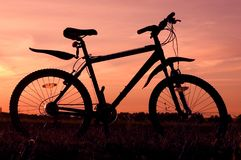 Bicycle silhouette stock image