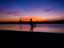 Bicycle Silhouette royalty free stock image