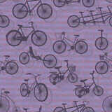 Bicycle Silhouette Seamless Pattern Stock Image