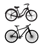 Bicycle Silhouette. Vector Illustrator Stock Photography