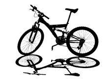 Bicycle silhouette. On a white background Royalty Free Stock Photos