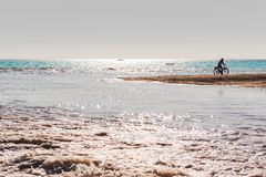 Water sport on the beach royalty free stock photo