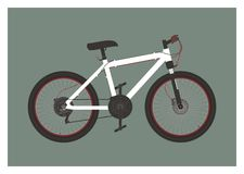Bicycle simple illustration Royalty Free Stock Photo