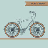 Bicycle sketch on blue Royalty Free Stock Images