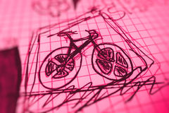 Bicycle sketch Stock Photos