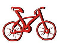 Bicycle-sketch Stock Photography