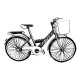 Bicycle - sketch illustration hand drawn. Royalty Free Stock Photography