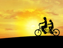 Bicycle sky N1 Royalty Free Stock Images