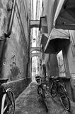 Bicycle in small alley Stock Image