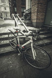 Bicycle in Snow Royalty Free Stock Photography