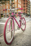 Bicycle in Soho, New York Stock Photos