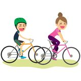 Bicycle Son And Mother Stock Images
