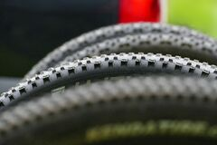 Bicycle Spiky Tire Royalty Free Stock Image