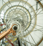 Bicycle spoke wheel Stock Images