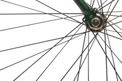 Bicycle spokes. Color detail of the wheel of a bicycle, with spokes royalty free stock image