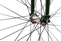 Bicycle spokes Royalty Free Stock Images