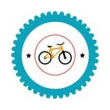 Bicycle sport emblem icon Stock Image