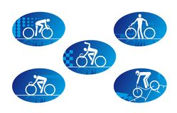 Bicycle sport icons Stock Photos