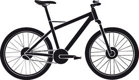 Bicycle. Sports bicycle. High-speed bicycle. Abstract drawing of the bicycle royalty free illustration
