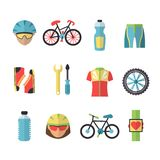 Bicycle Sports Icons Set Stock Photography