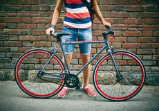 Bicycle of sportsman Royalty Free Stock Images