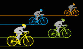 Bicycle Sprint Stock Image