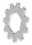 Bicycle sprocket. On white, vector illustration Royalty Free Stock Photography
