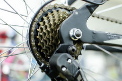 Bicycle sprocket cassette Royalty Free Stock Images