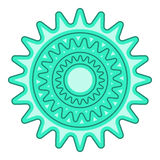 Bicycle sprocket icon, cartoon style Stock Images