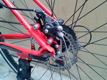 Bicycle sprocket on the rear wheel Stock Photo