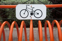 Bicycle stand Stock Photos