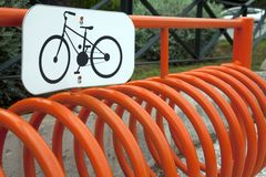 Bicycle stand Royalty Free Stock Photos