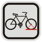 Bicycle stand, black silhouette at gray and black frame Stock Photo