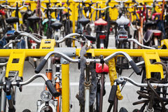 Bicycle stand Stock Photo