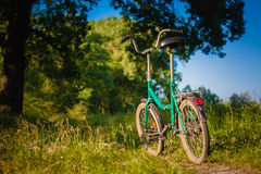 Bicycle Stands On The Footpath Stock Images