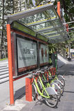 Bicycle station Royalty Free Stock Images