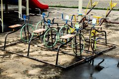Bicycle steel rusting. stock images